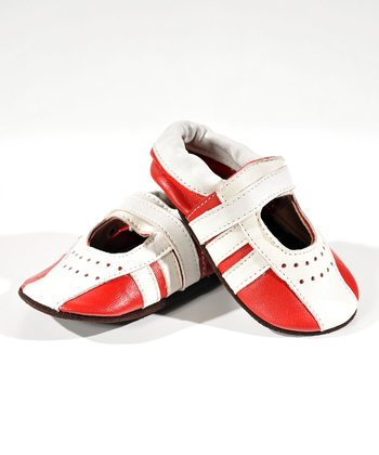 Red & White Sporty Booties