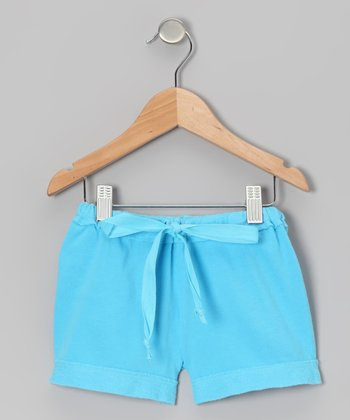 Turquoise French Terry Shorts - Toddler