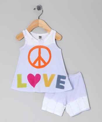 White Orchid 'Love' Tank & Shorts - Toddler