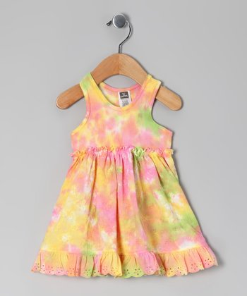 Yellow & Pink Olivia Dress - Toddler