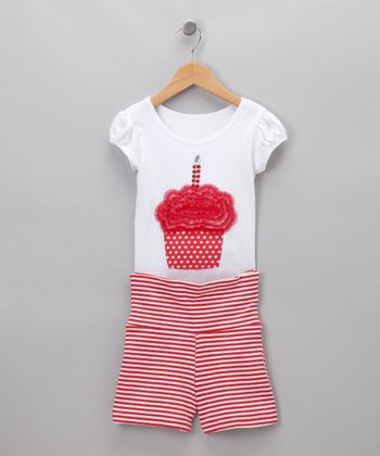 Cupcake Tee & Shorts - Toddler & Girls