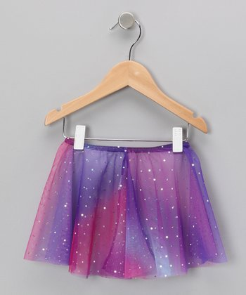 Purple & Magenta Metallic Skirt - Toddler & Girls