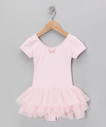 Pink Ruffle Skirted Leotard - Toddler & Girls