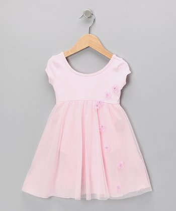 Pink Floral Skirted Leotard - Toddler & Girls