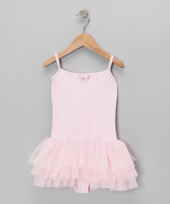Pink Tank Skirted Leotard - Toddler & Girls