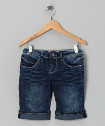 Medium Wash Bermuda Shorts - Girls