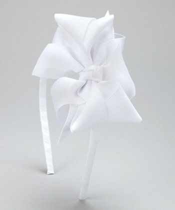 White Boutique Bow Headband