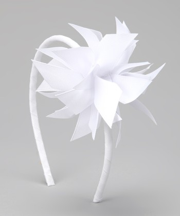 White Surprise Bow Headband