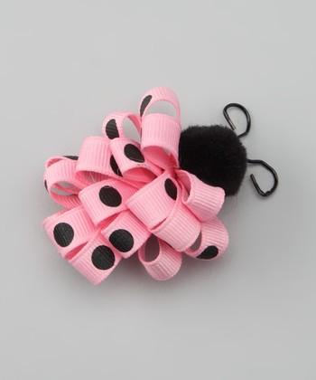 Pink Ladybug Loop Clip