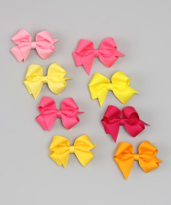 Citrus Medium Bow Clip & Holder Set