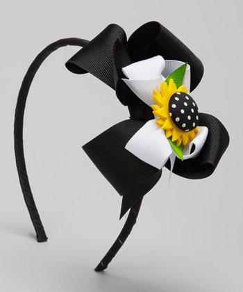 Sunflower Bow Headband