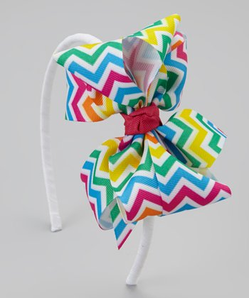 Summer Brights Zigzag Bow Headband