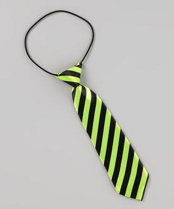 Lime & Black Stripe Kam Tie