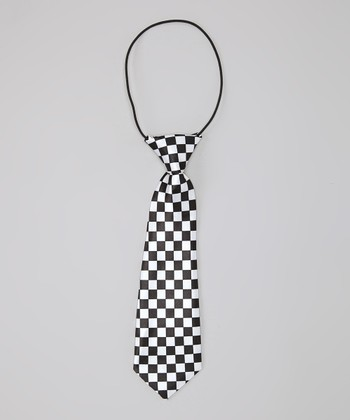 Black & White Checkerboard Maurice Tie