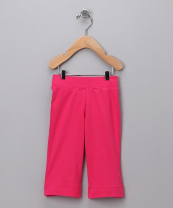 Fuchsia Flared Capri Pants - Toddler