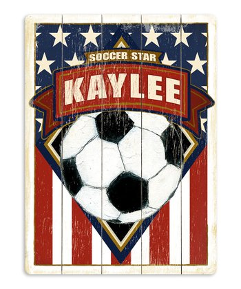 Artehouse 'Soccer Star' Personalized Wall Art
