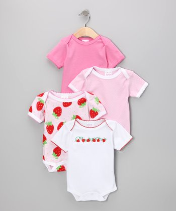 Strawberry & Polka Dot Bodysuit Set
