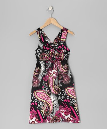Pink Mod Paisley Dress - Girls