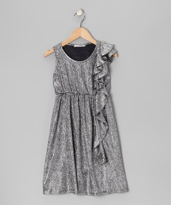 Silver Ruffle Dress