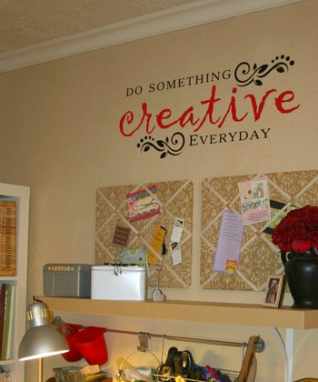 Black & Dark Red Creative Quote Wall Decal
