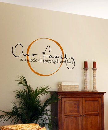 Copper & Black 'Our Family' Wall Quote
