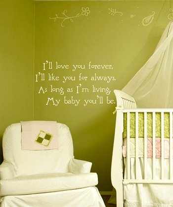 White Nursery Quote Wall Decal