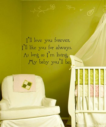 Black Nursery Quote Wall Decal