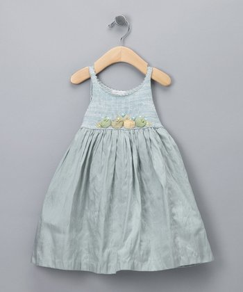 Sea Aqua Melange Dress - Infant, Toddler & Girls