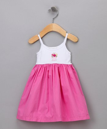 White & Fuchsia Dress - Infant