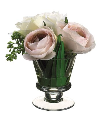 Pink Ranunculus & Rose Vase Arrangement