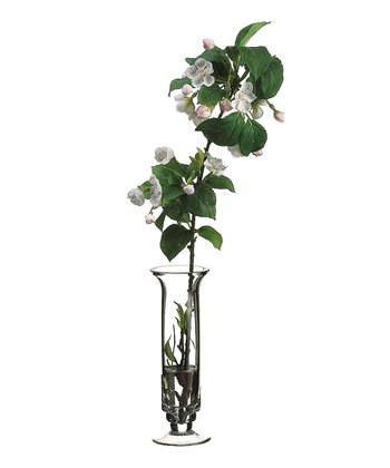 White & Pink Apple Blossom Vase Arrangement