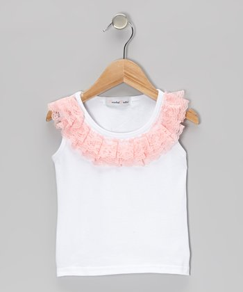 Light Pink Lace Ruffle Tank - Infant & Toddler