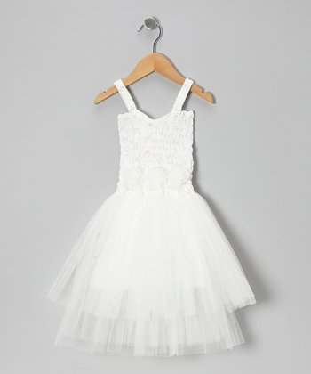 White Ava Dress - Toddler & Girls