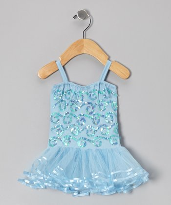 Light Blue Chloe Skirted Leotard - Infant, Toddler & Girls