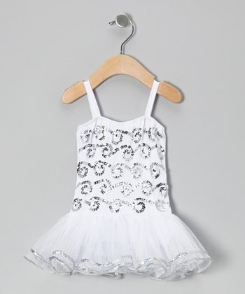 White Ruby Skirted Leotard - Infant, Toddler & Girls