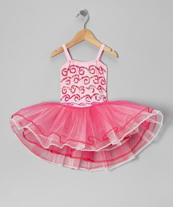 Pink & Fuchsia Stella Too Skirted Leotard - Toddler & Girls