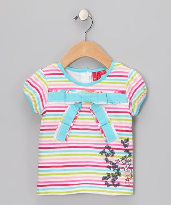 Blue Radiance Bow Top - Infant