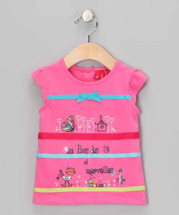 Azalea Pink Bow Top - Infant