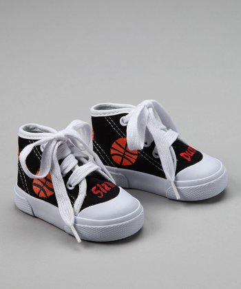 Black Basketball Hi-Top Sneakers - Infant & Toddler
