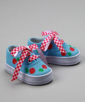 Red & Blue Cherry Sneakers - Infant & Toddler