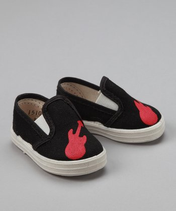 Black Guitar Sneakers - Infant & Toddler