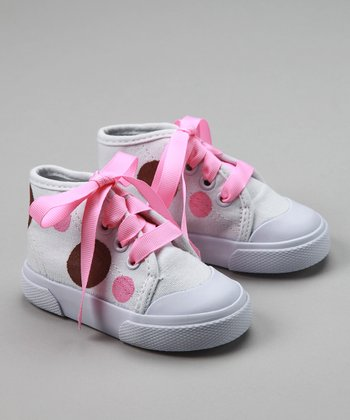Pink & White Neapolitan Dot Hi-Top Sneakers - Infant & Toddler