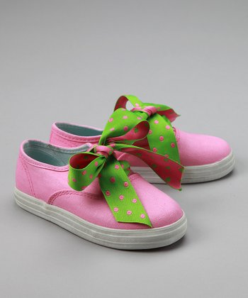 Pink & Green Sneakers - Toddler