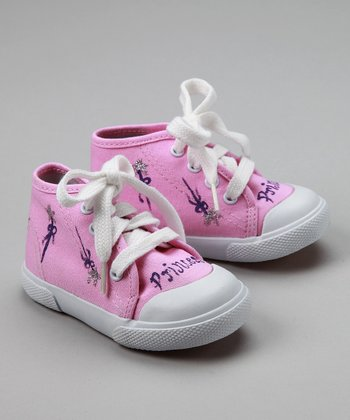Pink Princess Hi-Top Sneakers - Infant & Toddler