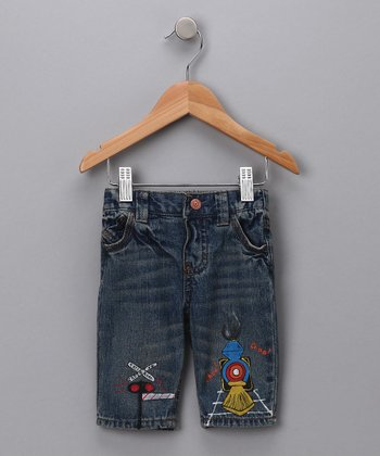 Denim Train Jeans - Infant & Toddler
