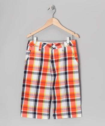 Orange Plaid Nevada Shorts