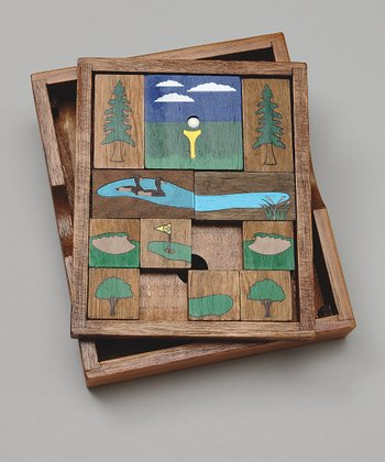 Hole-in-One Wooden Brainteaser Puzzle