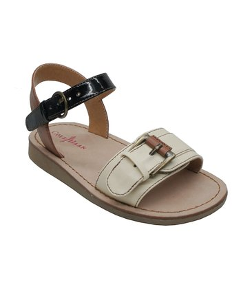 Cream Apple Buckle Sandal