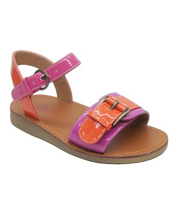 Pink & Orange Apple Buckle Sandal