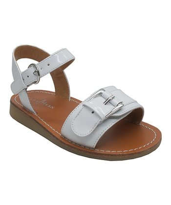 White Apple Buckle Sandal